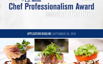 Call for Entries: 2017 Dr. L.J. Minor Chef Professionalism Awards