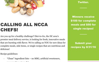 Call All NCCA Chefs! Diet-To-Go Recipe Contest