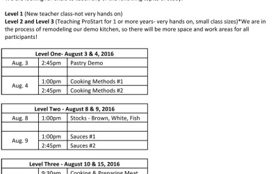 ProStart Teacher Workshops