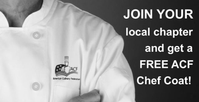 Get a FREE ACF Chef Coat