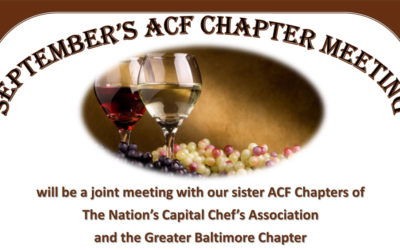 September ACF Chef's Monthly Meeting