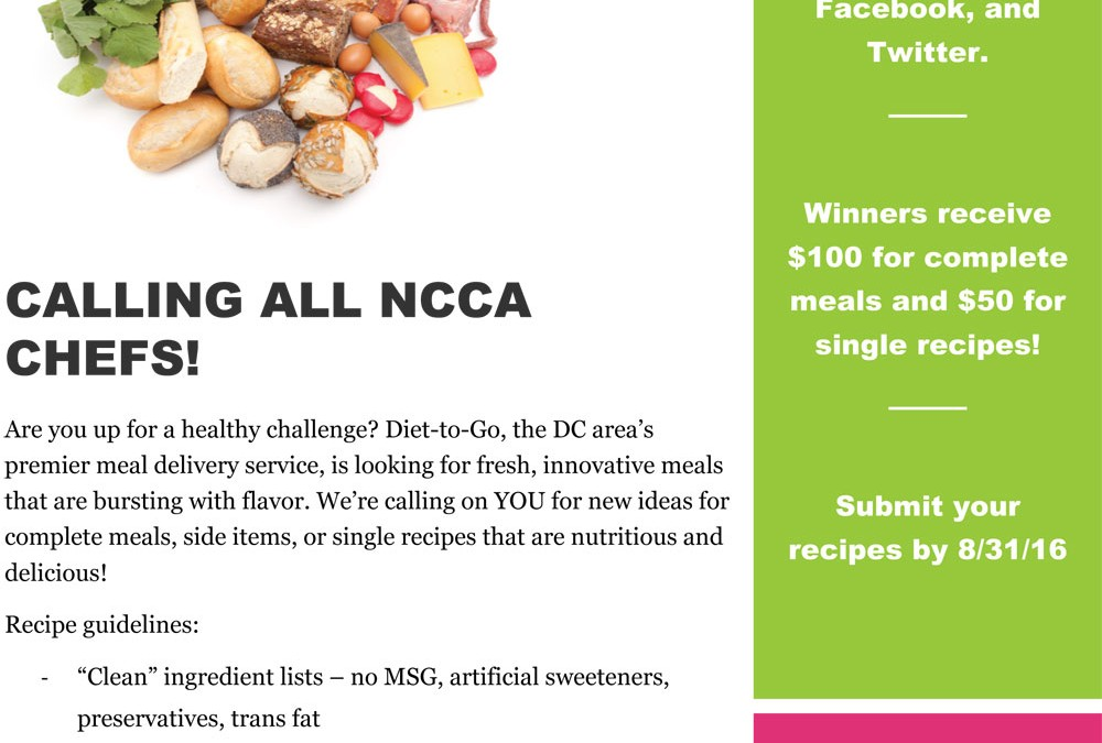 Call all ncca chefs diet to go recipe contest acf ncca diet to go recipe contest forumfinder Gallery