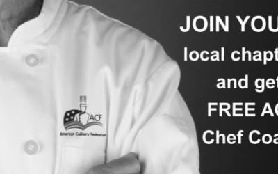 Get a FREE ACF Chef Coat